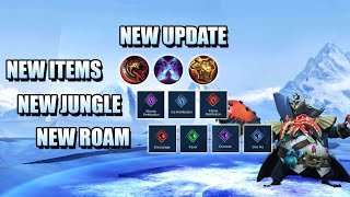 NEW UPDATE - BIG ITEM CHANGES, ENCHANTED BOOTS, JUNGLE ROAM UPDATE - MOBILE LEGENDS PATCH 1.5.72
