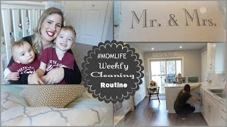 MY WEEKLY CLEANING ROUTINE 2016 II MOM EDITION II  WITH 2 BABIES