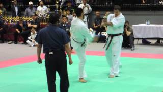 All American Open 2015 Kyokushin Karate Final Oleksandr Ieremenko vs Ilya Karpenko 1