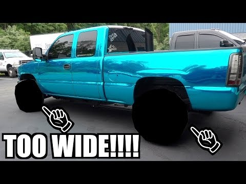 How to RUIN your TRUCK with NEW MASSIVE 14in WIDE WHEELS!!!!