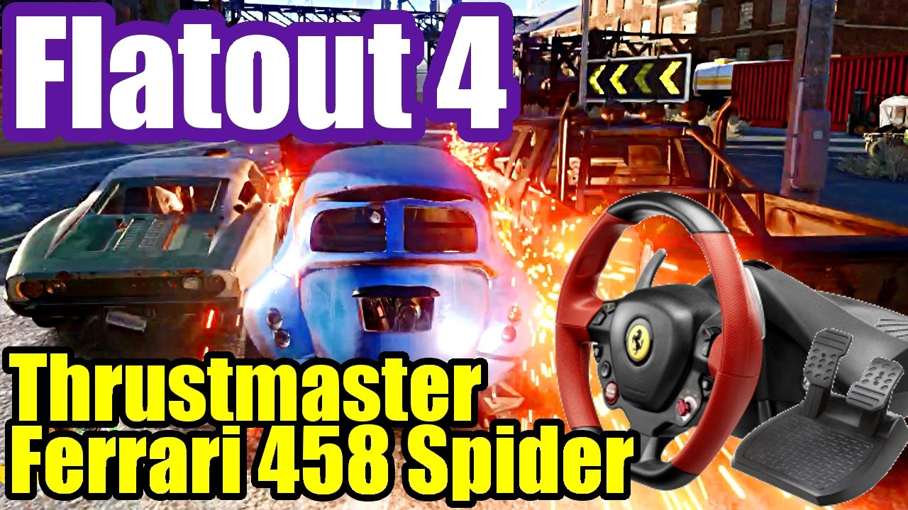 flatout 4 total insanity review thrustmaster ferrari 458. Black Bedroom Furniture Sets. Home Design Ideas
