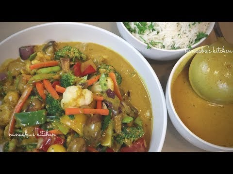 How to make the best VEGETABLE STIR FRY with CoCoNUT CuRRY SauCe Nanaaba's kitchen