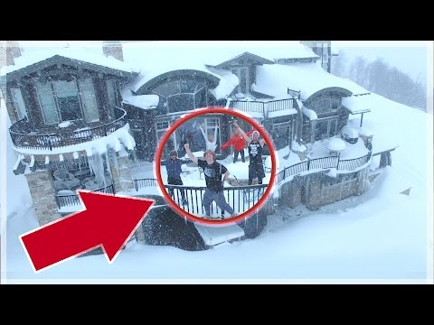 STUCK IN A BILLIONAIRE'S HOUSE! (snow day)