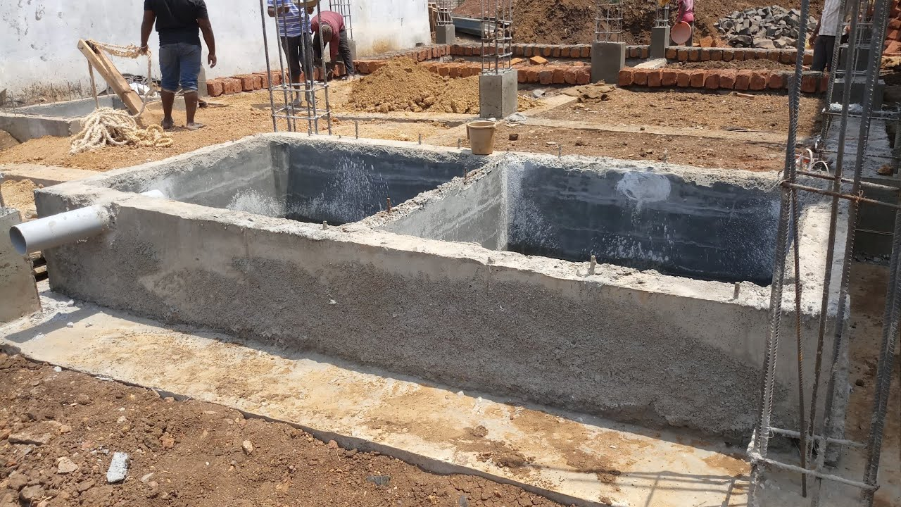 Two Block Septic Tank And Underground Water Storage