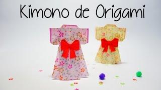 Kimono de papel - origami