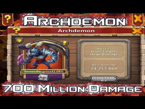 700,000,000 Damage On Hardest Archdemon~ Castle Clash