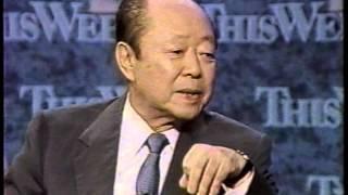 宮沢喜一総理への英語インタビュー Kiichi Miyazawa English Interview