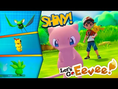 CATCHING SHINY POKÉMON in Pokémon Lets Go! (Let's Play Episode 3) + HOW TO GET FREE MEW!