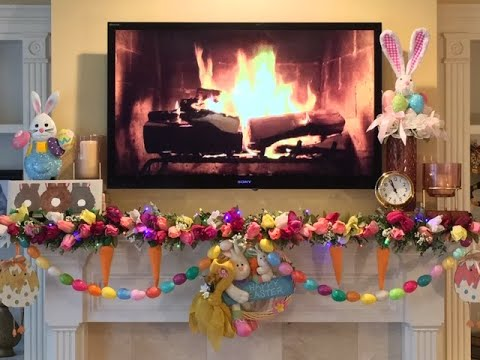 Spring Easter Fireplace Mantel Decorations And Styling Youtube