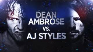 WWE World Champion Dean Ambrose vs. AJ Styles, tonight at WWE Backlash