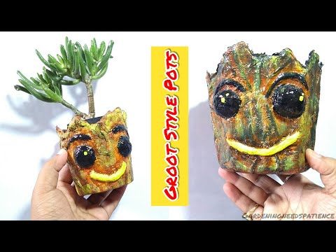 How To Make A Paper Pots || Groot Style Paper Pots || Decorative Paper Pots DIY