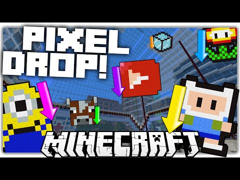 Minecraft | PIXEL DROP! | Fast Paced Guessing Game (Custom Map)