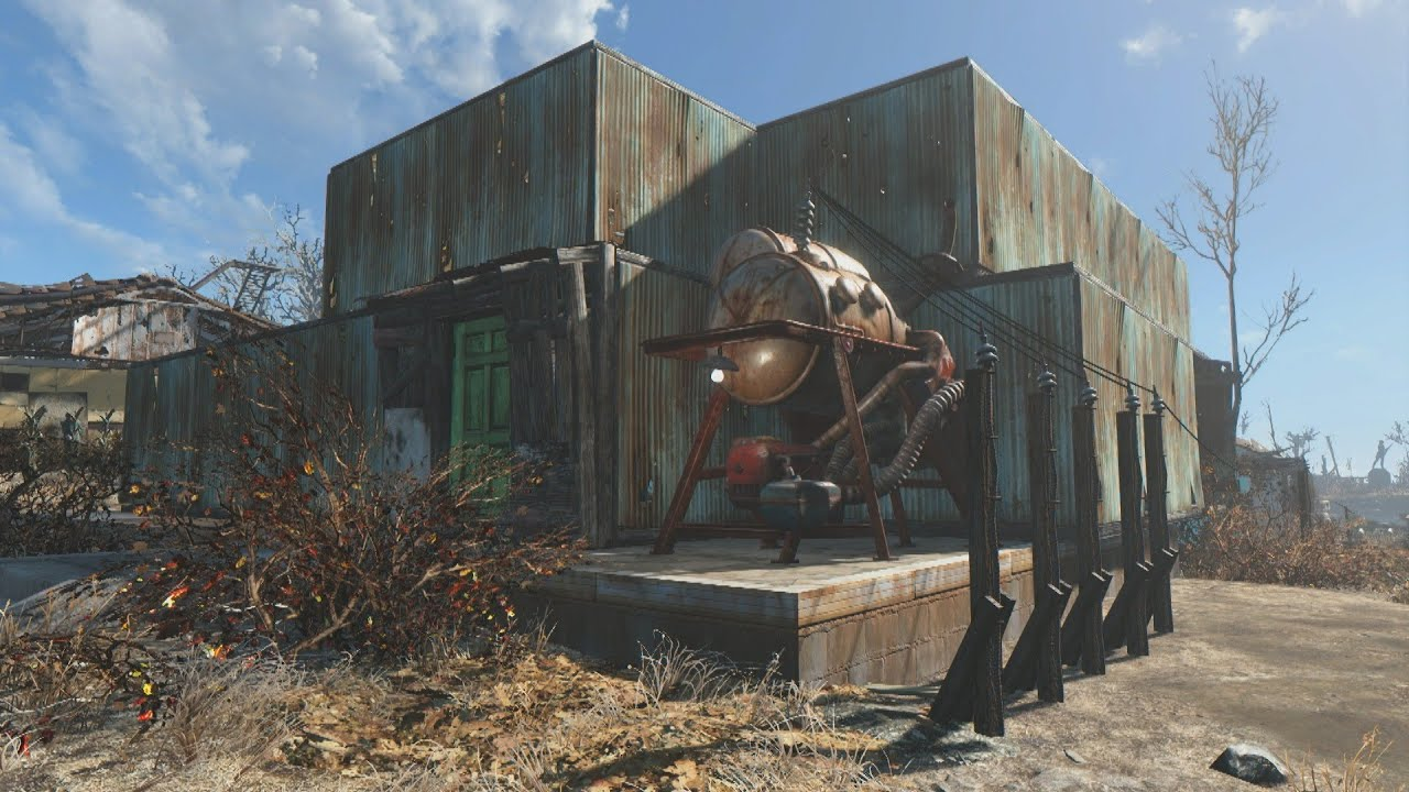 Wonderful Fallout 4 Home Designs Part - 7: Fallout 4: Building An Awesome Two Story House - YouTube