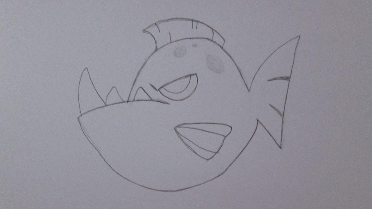 Cómo dibujar una piraña - YouTube