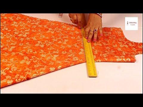 Umbrella dress/ Umbrella cut kurti cutting and stitching, Umbrella Suit/Gown Cutting Step By Step