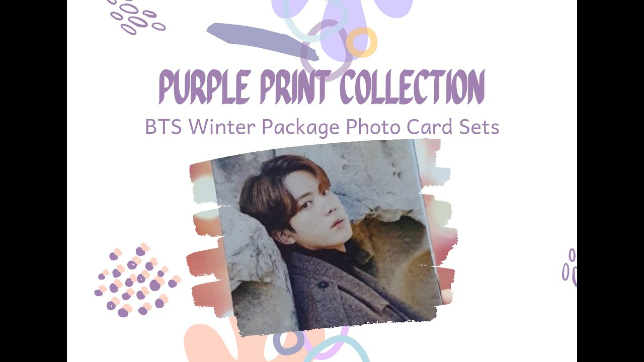 Bts 2021 winter package closeup laminated photo cards