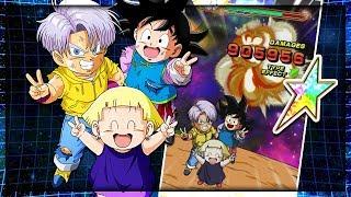 100% Rainbow star Goten, Trunks and Marron showcase! Little rangers GO | Dragon ball Z Dokkan Battle