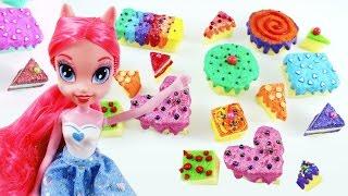 Cómo hacer tortas, pasteles, bizcochos, para muñecas - Manualidades para muñecas
