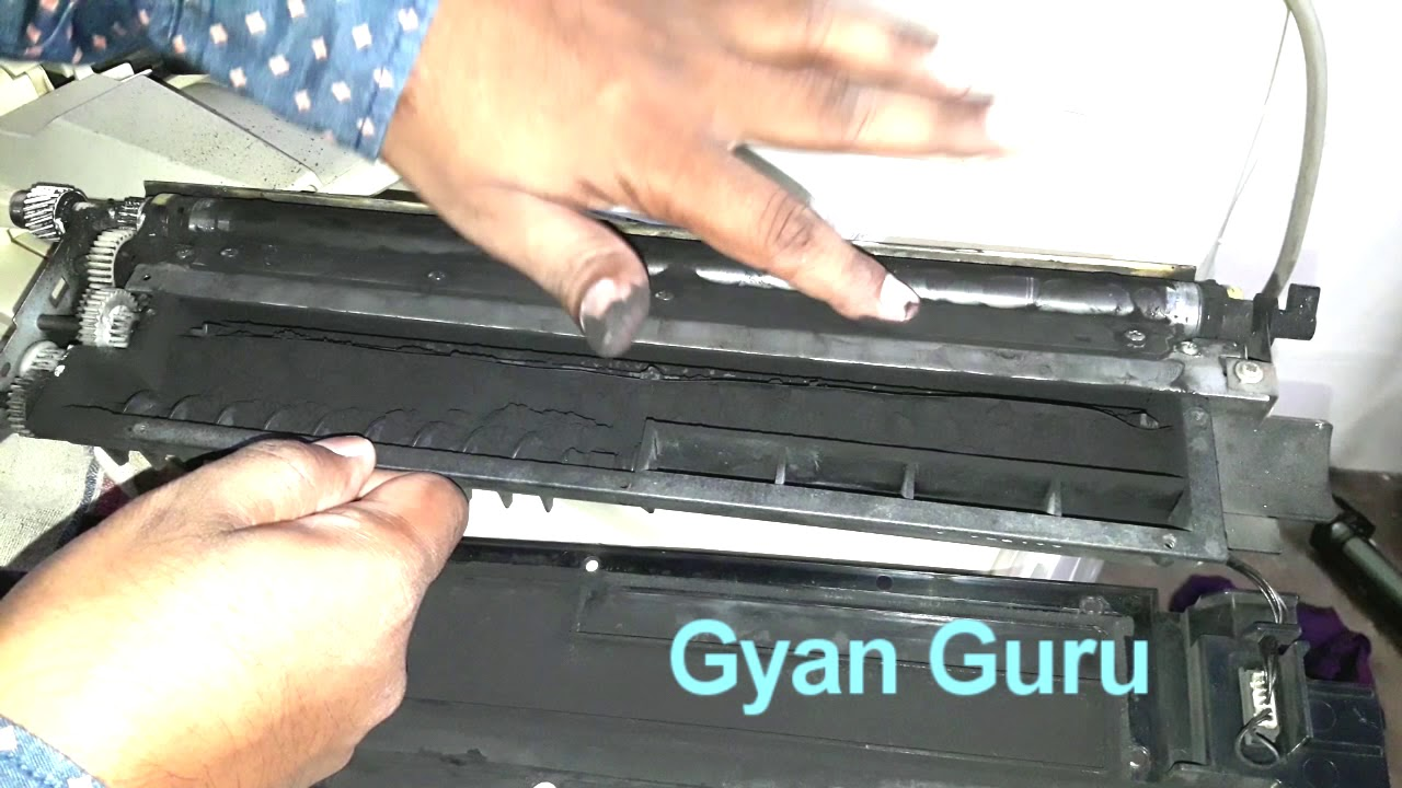 how to clean magnetic roller in toner unit of copier machine for better  quality photo copy