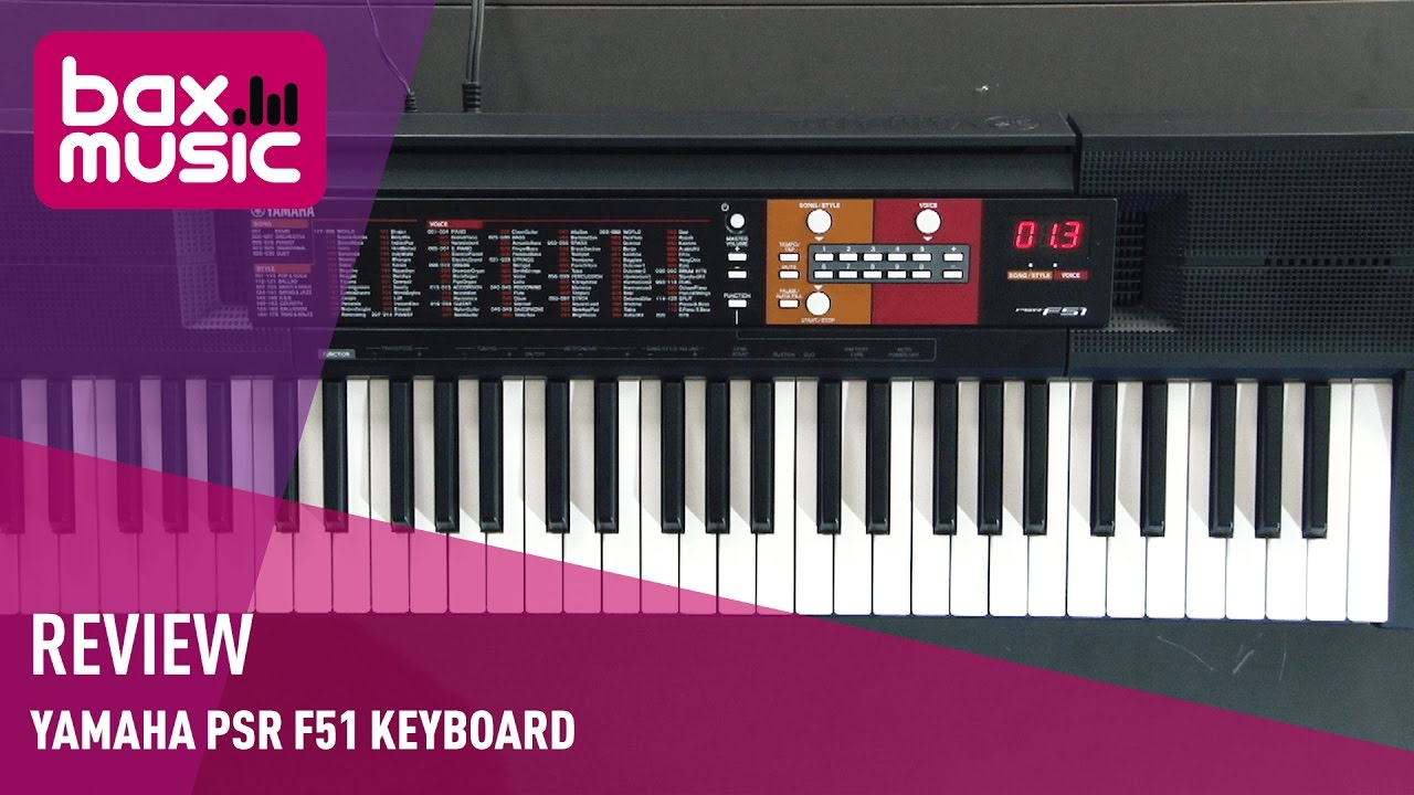 yamaha psr f51 keyboard review youtube. Black Bedroom Furniture Sets. Home Design Ideas