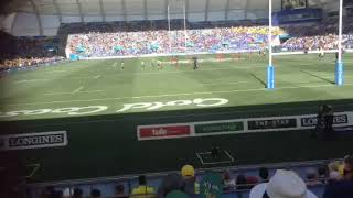 At the commonwealth games rugby 7's