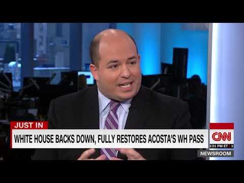 White House Backs Down y Restores Jim Acosta&39;s Press Pass