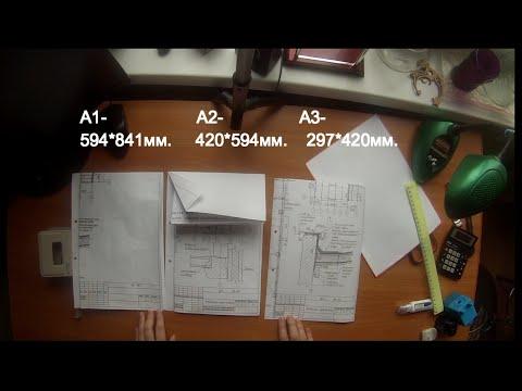 Как сложить чертежи формата А1, А2, А3 ?