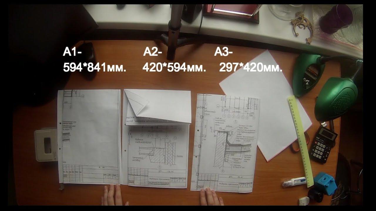 схема сворачивания в а3