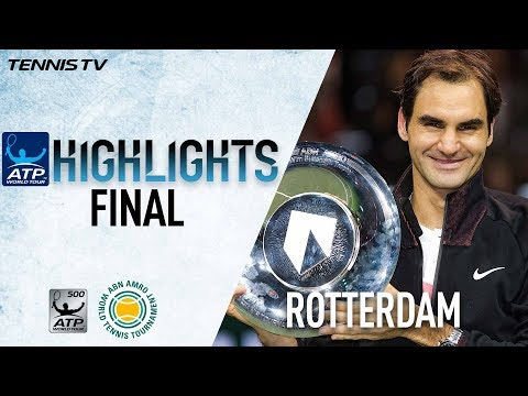 Final Highlights: Federer Claims Third Rotterdam Crown