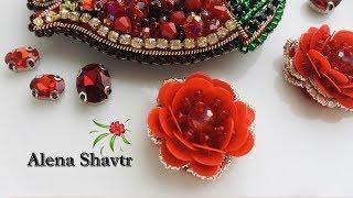 как сделать цветы из паеток