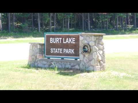Camping at Burt Lake State Park, Indian River, Mi