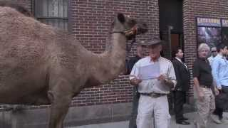 Jack Hanna and his Crew outside Letterman Show