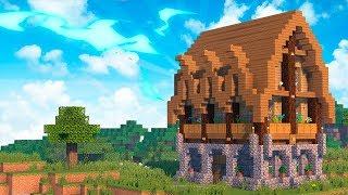 Двухэтажный дом для выживания в Майнкрафт - Как построить? Скачать карту Minecraft