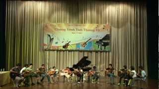 Anh Khoa Music - Rhythm Of The Rain - Group Guitar Performance
