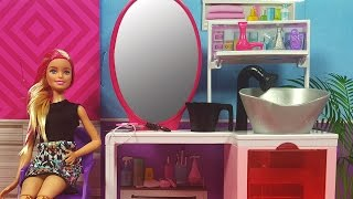 Barbie Kuaför Salonu ve ilk Müşterisi Rapunzel | Yıpranmış Saçlara Bakım | EvcilikTV