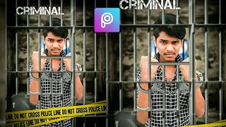 CRIMINAL - PHOTO EDITING  || New Editor In Picsart 2019 ka tutorial video || By-V.k editing channel