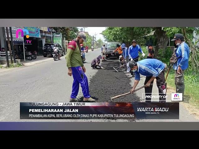 Tulungagung – Dinas PUPR Kabupaten Tulungagung Giatkan Pemeliharaan Saluran dan Aspal Jalan
