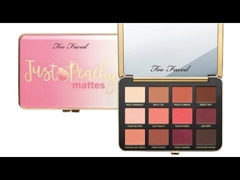Vale La Pena Probar Paleta De Too Faced Just Peachy Matte Velvet Youtube