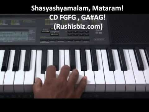 Vandemataram song Piano Tutorial by Mahesh Eera