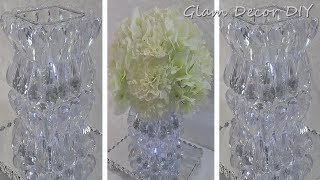 Dollar Tree DIY Elegant Glam Crystal Vase