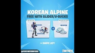 How to get the Alpine Ace Skin (Kor) for FREE in Fortnite Battle Royale!!!