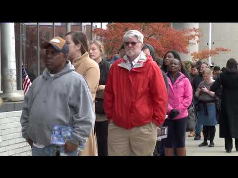 Long lines at Cuyahoga County Board of Elections for early voting