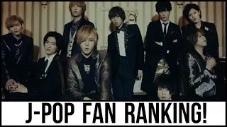 J-POP Boy Group Fan Ranking! (2016)