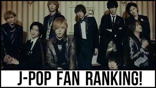 J-POP Boy Group Fan Ranking! (2016)