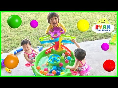 Ball Pit Balls Water Toys Step 2 for Kids and Babies Playtime In The Pool with Ryan ToysReview