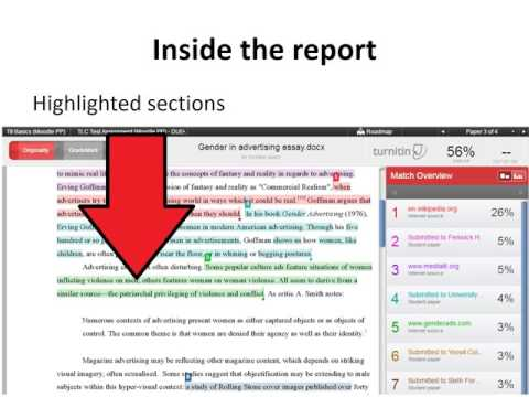 How to interpret the Turnitin originality report - Guidance for students