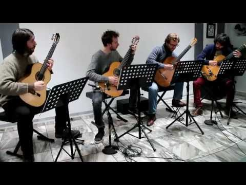 """Tokyo - by Alain Selhorst. Performed by """"The Four Aces Guitar Quartet"""""""
