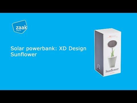 Solar powerbank: XD Design Sunflower