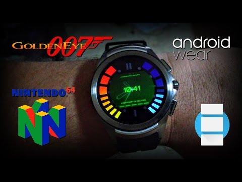 James Bond 007 Goldeneye Watch for Android Wear