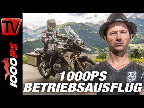 1000PS Betriebsausflug - Motorradfahren in den Alpen - Tipps vom Profi - Hotel Post Galtür